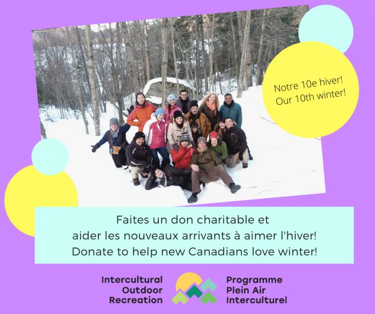 Aidez les nouveaux arrivants à aimer l'hiver (notre 10e!)