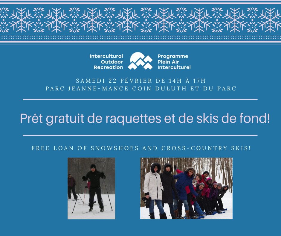 Try Our Snowshoes and Cross-Country Skis - Feb. 22!