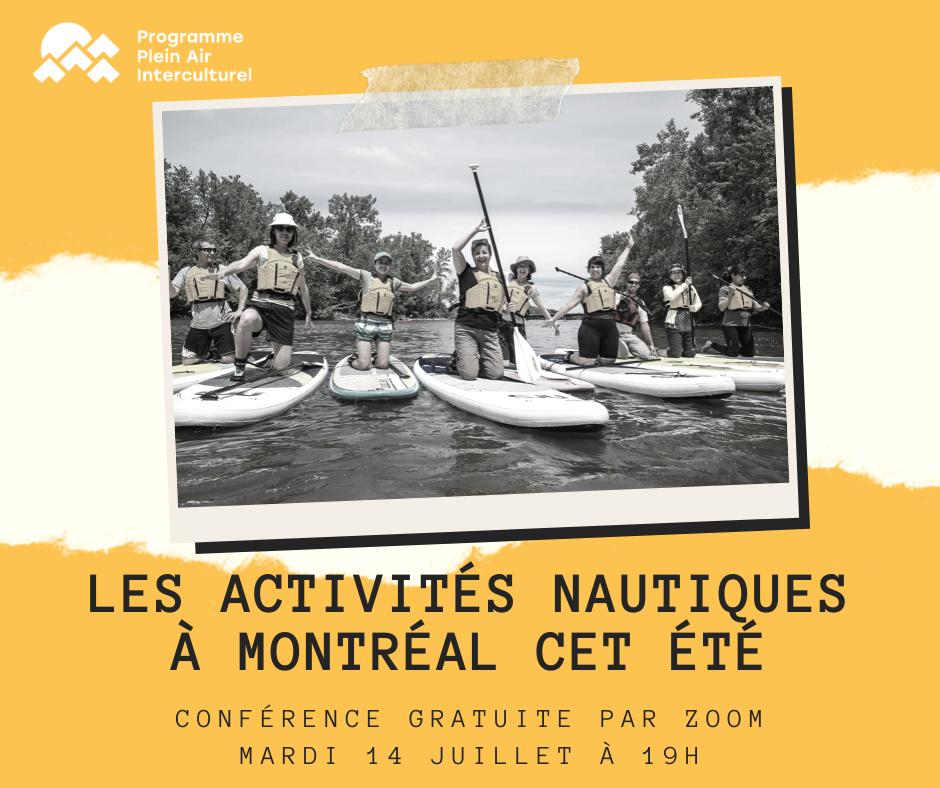 Conférence: les activités nautiques à Montréal cet été